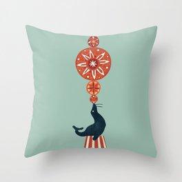 Circus Seal Throw Pillow