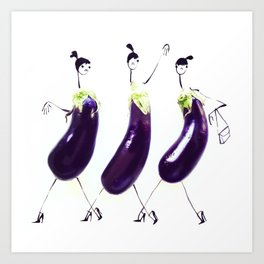 Edible Ensembles: Eggplant Art Print
