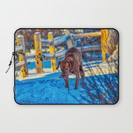 Playing In The Snow Laptop Sleeve