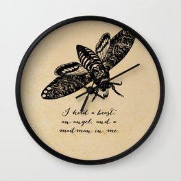 Dylan Thomas - Madman Wall Clock