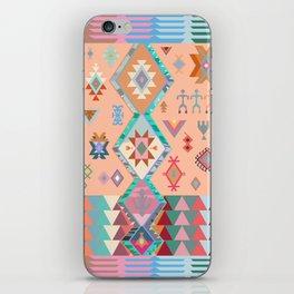 Peachy Boho Kilim iPhone Skin