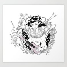 Art Angels Art Print