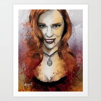 true blood Art Prints featuring Oh My Jessica - True Blood by Fresh Doodle - JP Valderrama