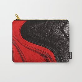 Abstract art red and blacks Carry-All Pouch