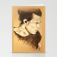 harry styles Stationery Cards featuring Harry Styles by Drawpassionn