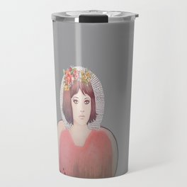 flower girl - floral Travel Mug