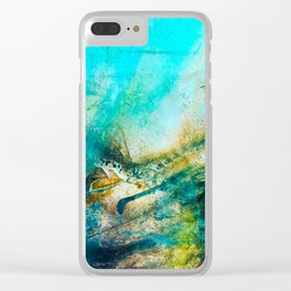 STORMY TEAL AP II Clear iPhone Case