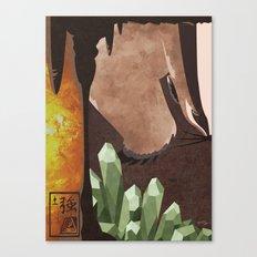 Original Bending Masters Series: Badgermoles Canvas Print