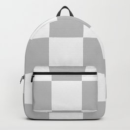 Gray & White Checkerboard Backpack