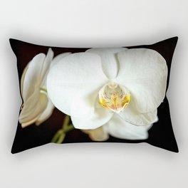 White Phalaenopsis Moth  Orchid Rectangular Pillow