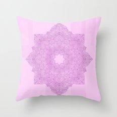 Purple Mandala Throw Pillow