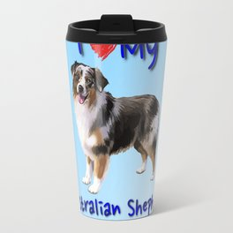 I Heart My Australian Shepherd Travel Mug