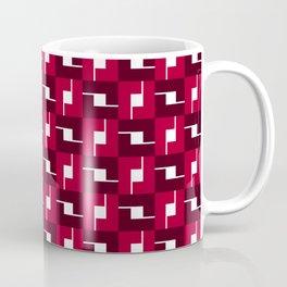 Geometric Pattern #257 (red boxes) Coffee Mug