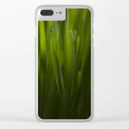 Cat grass Clear iPhone Case