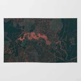 Canberra Map Red Rug