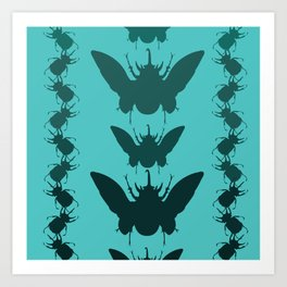 Beetles Pattern Art Print