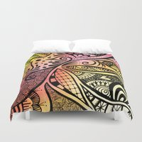 firefly Duvet Covers featuring Firefly Zentangle by Wealie