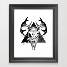 Deer Skull Framed Art Print