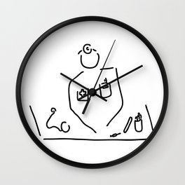 doctor with medicine utensils Wall Clock