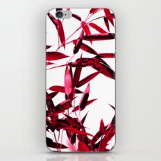 red bamboo abstract I iPhone & iPod Skin