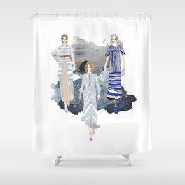 Fashionary - Blues Shower Curtain