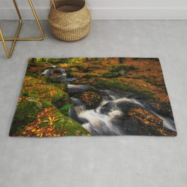 Cloghleagh River in Wicklow Mountains - Ireland (RR249) Rug