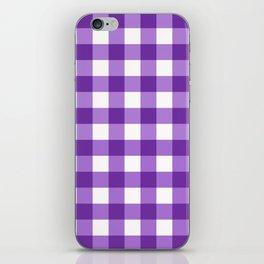 Purple Buffalo Check - more colors iPhone Skin