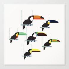 The toucans Canvas Print
