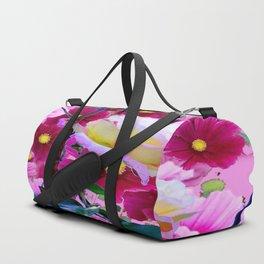 YELLOW ROSE GARDEN BEAUTY & PINK COSMOS Duffle Bag