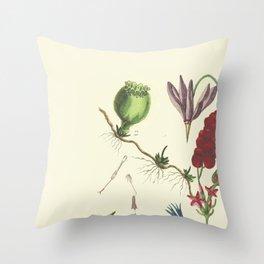 Flaw Flower Throw Pillow