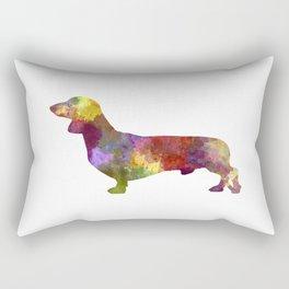 Dachshund in watercolor Rectangular Pillow