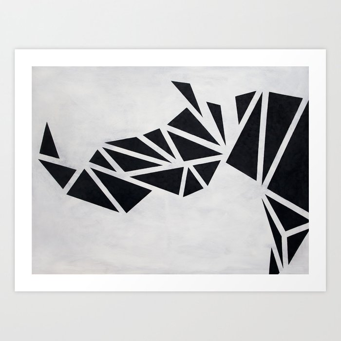 Geo Rhino (oil painting) Art Print