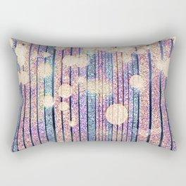 Glitter Pink Grunge Splatter Rectangular Pillow