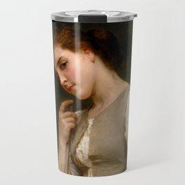"""William-Adolphe Bouguereau """"The Shepherdess"""" Travel Mug"""
