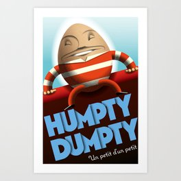 Humpty Dumpty vintage French style Art Print