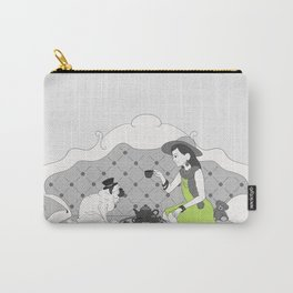 Little Girl Tea Party 01  Carry-All Pouch