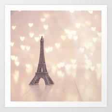 Left my heart in paris Art Print
