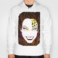 bianca green Hoodies featuring The panther, Bianca  by Francine Oliveira