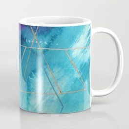 Galaxy Series [1]: an abstract mixed media piece in blue, purple, white, and gold Coffee Mug