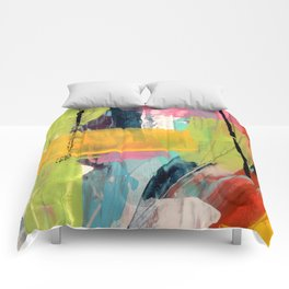 Hopeful[2] - a bright mixed media abstract piece Comforters