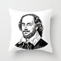 shakespeare Throw Pillows featuring Shakespeare by OnaVonVerdoux