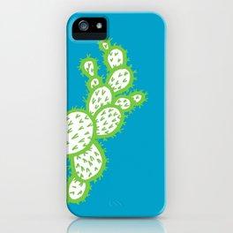 Cacti green line art iPhone Case