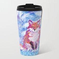 Calm Winter Fox Metal Travel Mug