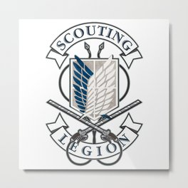 "Attack On Titan "" Scouting Legion "" Metal Print"