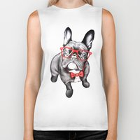 dog Biker Tanks featuring Happy Dog by 13 Styx