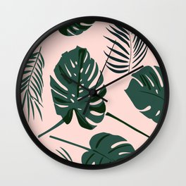 Tropical palm Wall Clock