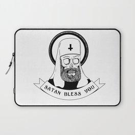 Satan bless you Laptop Sleeve