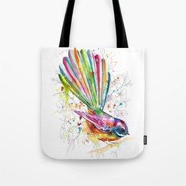 Sketchy Fantail Tote Bag