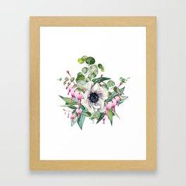 Gentille watercolor handpainted clipart, floral, flower, design, stylish, wedding, invitation Framed Art Print