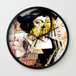 Columbus & Queen Isabel   (2) Wall Clock